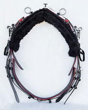 Quick Hitch Style Trotting Back Saddle and Girth - Black / Red