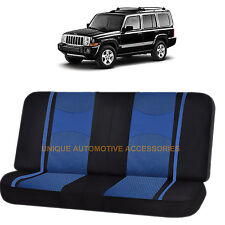 BLUE/BLACK POLY MESH NET 2PC SPLIT BENCH SEAT COVER for JEEP COMPASS CHEROKEE