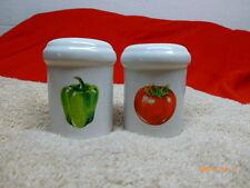 Ragu Rewards Salt and Pepper Shaker Tomato Bell Pepper Green Pepper Lot of 2