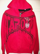 Tapout Red Black Full Zip Down Zipper Hoodie Jacket Boys Youth Size 8 NWT