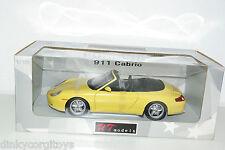 UT MODELS PORSCHE 911 CARRERA CABRIOLET YELLOW MINT BOXED RARE SELTEN RARO!!!