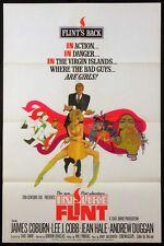 IN LIKE FLINT JAMES COBURN BOB PEAK ART 1967 1-SHEET NEAR MINT