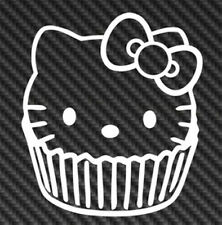 Hello Kitty Cup Cake Sanrio Vinyl Sticker Car Decal Laptop Cute Cupcake