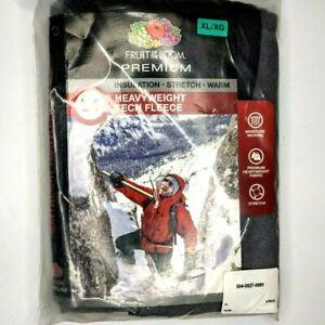 XL XG Fruit of the Loom Premium Tech Fleece Thermal Pants Underwear Sport L4 F2