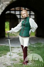 Thick Padded Ladies Full Length Gambeson Coat Aketon Jacket Armor - GREEN Color