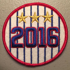 Chicago Cubs 2016 Commemorative Timeline Patch - 3rd World Series Championship