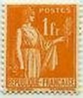 "FRANCE STAMP TIMBRE N° 286 "" TYPE PAIX , 1 F ORANGE "" NEUF xTB"