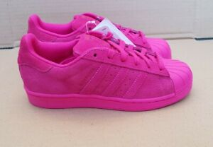 BNWT ADIDAS SUPERSTAR RT TRAINERS CERISE PINK SUEDE SIZE 4.5 UK NEW STUNNING
