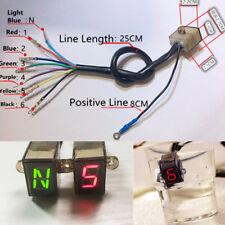 Digital N - 6 Speed Motorcycle Gear Indicator Clutch Lever Gauge Meter Display