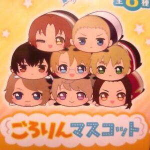 Hetalia Axis Powers Gororin Plush Mascot Keychain America England Japan France