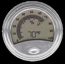 Don Salvatore Digital/Analog Hygrometer Silver - #1539S - AUCTION