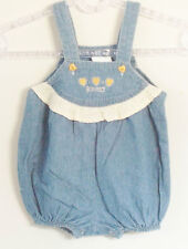 BEBE CRECE Size 12 Months Girls Blue Denim Bodysuit Romper