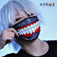 Mask Kaneki Ken Face Masks Zipper Cycling Anti-Dust Anime Tokyo Ghoul Cos Gifts