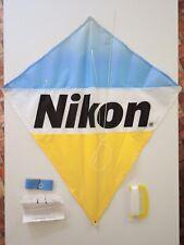 Diamond Kite with Nikon logo (nylon, 1992, made in Taiwan) ~ open bag/unused