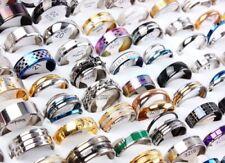 Wholesale 30pcs BULK LOT mixed STAINLESS STEEL RINGS MEN'S Fashion Wedding Ring