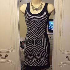 SEXY WOMENS BLACK BODYCON DRESS MISS SELFRIDGE SIZE 34/ SIZE 6