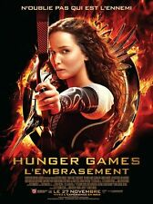 Affiche Pliée 40x60cm HUNGER GAMES - L'EMBRASEMENT 2013 Jennifer Lawrence NEUVE
