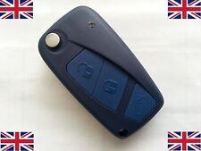 NEW FIAT PANDA IDEA PUNTO STILO DUCATO 3 Button Remote Flip Key Fob Case & blade