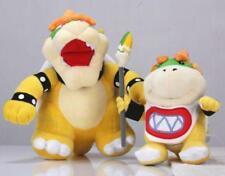 "2Pcs/Lot Super Mario Bros 10"" King Bowser & 7""  Koopa Jr. Bowser Plush Doll Toy"