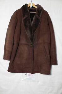Montone Shearling Tg. 48 (Cod.G60) usato Marrone vintage cappotto giacca