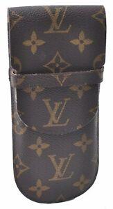 Auth Louis Vuitton Monogram Etui Lunettes Rabat Glasses Case M62970 LV D0404