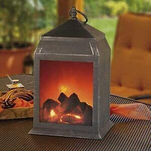 Flickering Fireplace Lamp Lantern Battery Operated LED Light