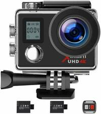 Campark Action Sports Camera 4K WiFi Hd Helmet Cam Camcorder Waterproof Dual Lcd