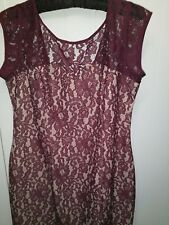 Next burgundy red lace dress 16