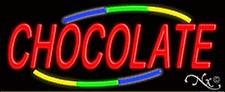 "Brand New ""Chocolate"" 32x13 W/Multicolor Design Neon Sign w/Custom Options 10766"