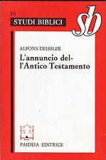 Alfons Deissler L'ANNUNCIO DELL'ANTICO TESTAMENTO