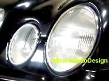 4 PCS Chrome Headlight Trim Surrounds For 1998-2002 Mercedes W208 CLK C208 A208