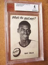 1954/55 Gunther Beer Baltimore Bullets Ray Felix BVG 4 highest graded ROOKIE