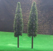SS220 4pcs 1:25 Model Pine Cedar Trees Deep Green O G Scale Layout 22cm
