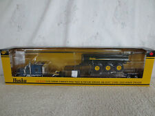 DCP 1:64 Floyd Gibbons Husky Spreader Kenworth Drop Deck Lowboy Tractor Trailer