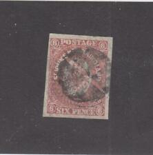 NEWFOUNDLAND # 20  FVF-USED  6p  ST. JOHN'S IMPERF /ROSE CAT VALUE $60