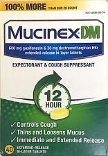 MUCINEX DM 40 TABLET 600 MG GUAIFENESIN+30 MG DEXTROMETHORPHAN 12 HOUR EX 02/19+