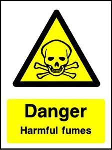 danger harmful fumes