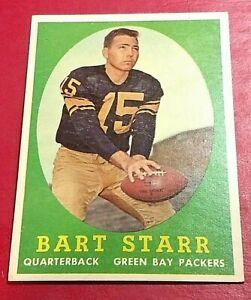 1958 Topps Football #66 Bart Starr Beautiful well centered card 5/14-3