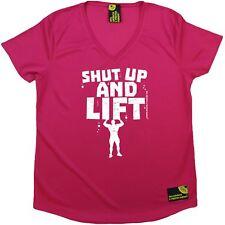 SWPS-Cállate y levantar-Premium Dry Fit Transpirable Deportes Escote en V Camiseta