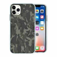 For Mobile Phone TPU Back Case Cover Army Camo Camouflage Black White - G1254