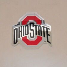 OHIO STATE BUCKEYES AUTO BADGE  DECAL EMBLEM 3X5 FREE SHIPPING
