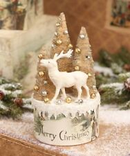 Bethany Lowe Christmas Vignette Box Tp6197 Reindeer w/Trees on Box