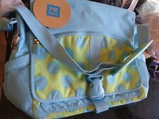 Pottery Barn Teen  Dot Messenger bag blue green  New
