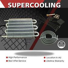 6 ROW Universal Aluminum Transmission Oil Cooler Radiator Converter MT To Auto