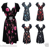 Size 12-26 UK Ladies womans evening party summer holiday evening contrast dress