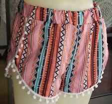 """Cute Ball Trim Elastic Waist Shorts Sz. M  28-36"""" Waist"""