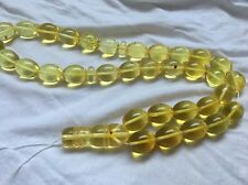 Olive huge Natural Amber Prayer Tasbih مسباح كهرمان كهرم اصلى قديم Free Ship Wor