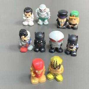 Lot 10PCS Ooshies DC Marvel Disney Pencil Batman Toppers Figure Collection Toy