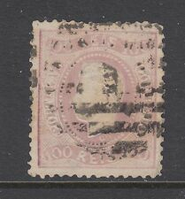 Portugal Sc 31 used 1869 100r typographed & embossed King Luiz, sm corner thin