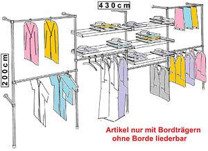 begehbarer Kleiderschrank Wandgaderobe Kleiderständer Kleiderstangen Metall W.17